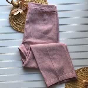 Lafayette 148 NY red pinstripe linen blend trouser